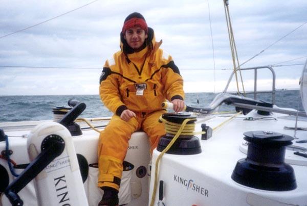 Al sailing Ellen MacArthur's Kingfisher IMOCA 60