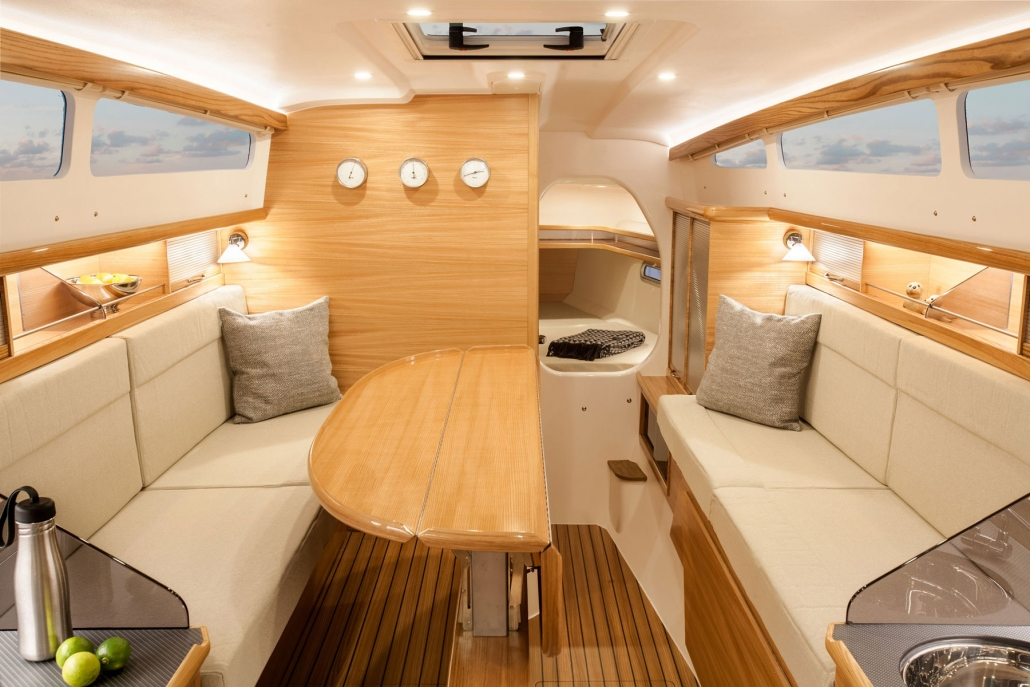 Dragonfly 32 trimaran main cabin