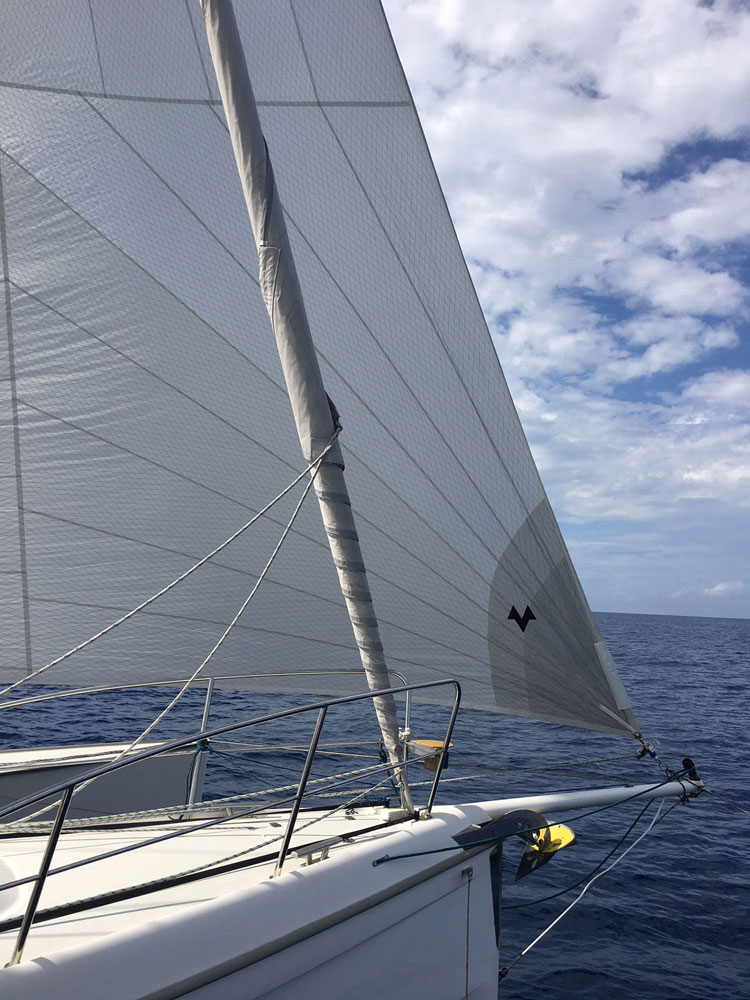Dragonfly 35 Touring trimaran for sale - code 0 reacher