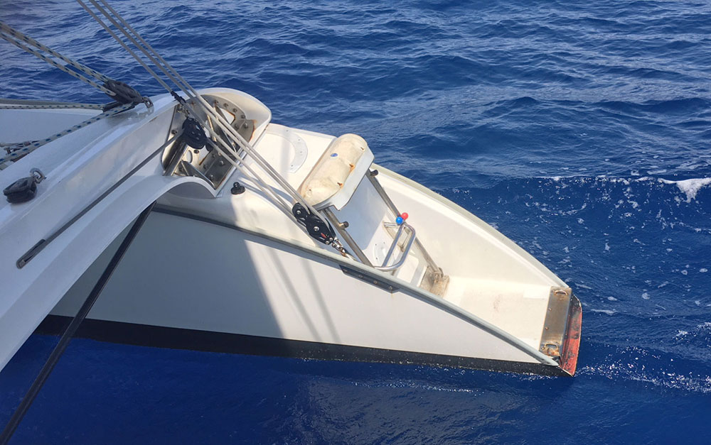Dragonfly 35 Touring trimaran for sale - transom