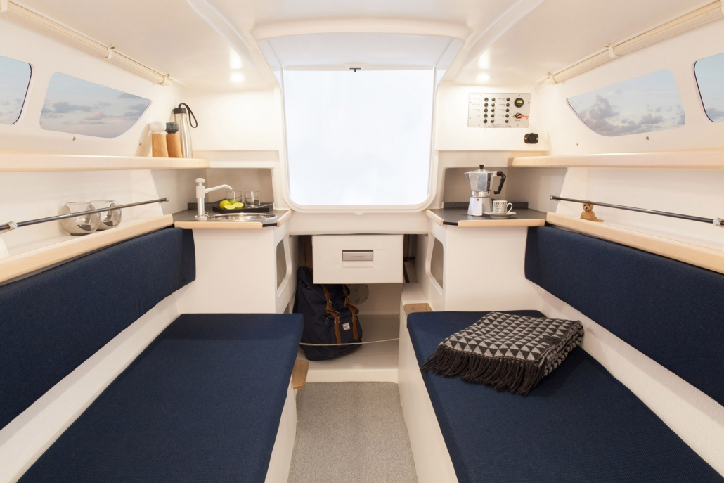 Dragonfly 25 trimaran galley