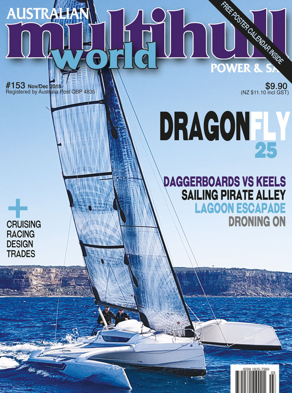 Dragonfly 25 trimaran tested by Multihull World
