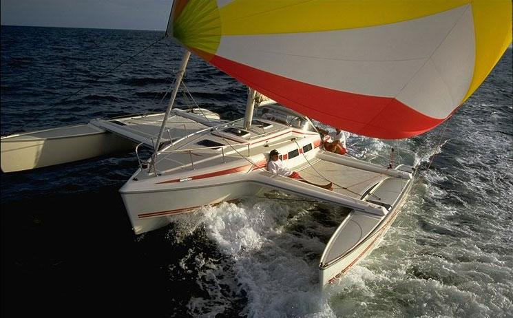 Dragonfly 1000 with spinnaker
