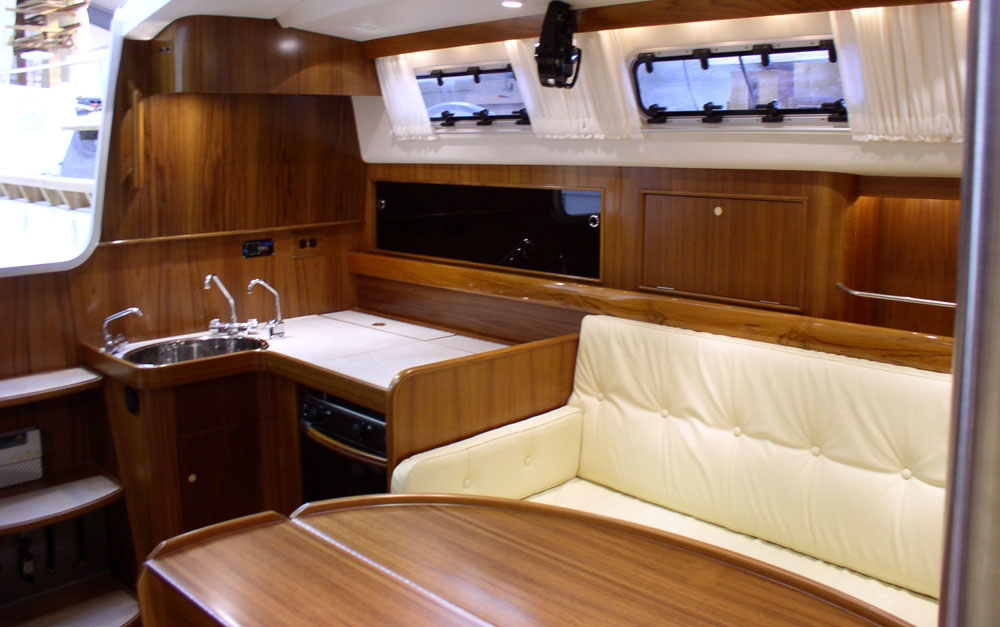 Dragonfly 1200 saloon and galley