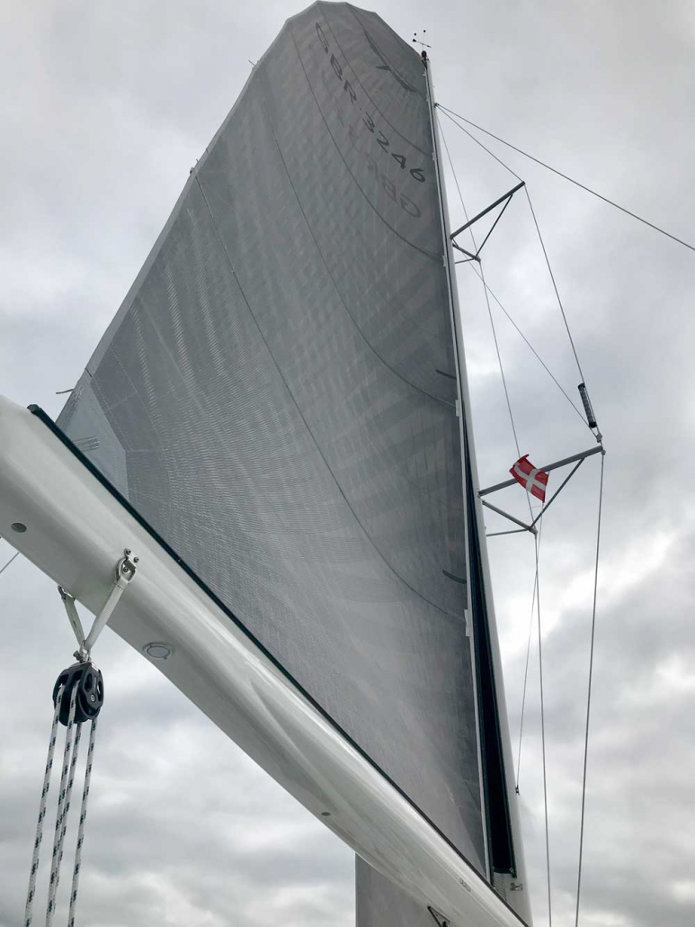 Dragonfly-32 Touring mainsail and Furlerboom